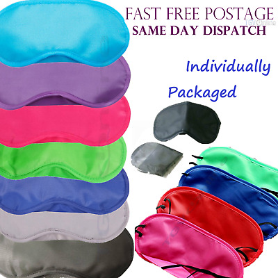 AU1.33 • Buy Travel Eye Mask, Sleep Sleeping Cover Rest Eyepatch Blindfold Mixed Colours New