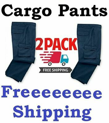 $34.99 • Buy Cargo Work Pants - Pack Of 2 - Pick Your Color -FREE SHIP