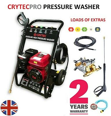 £189.50 • Buy CRYTEC PRO 7HP 3400RPM Petrol High Power Pressure Jet Washer 2500PSI COMMERCIAL