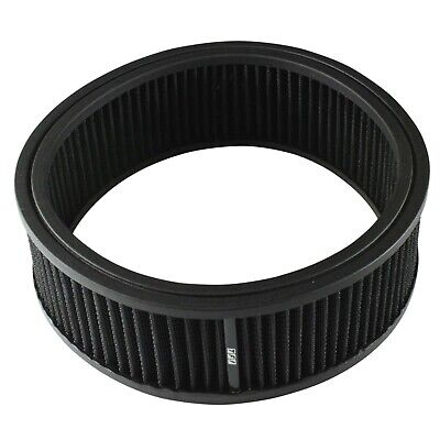 AU39.95 • Buy Air Cleaner Filter Element Black 9  Wide 3  Tall Round High Flow Cotton