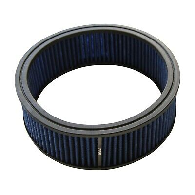 AU39.95 • Buy Air Cleaner Filter Element Blue 9  Wide 3  Tall Round High Flow Cotton