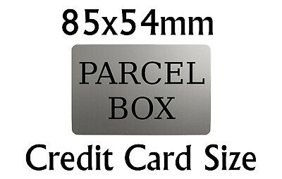 £4.98 • Buy PARCEL BOX Metal Aluminium Plaque Sign For House Office 85x54mm NEW SATIN SILVER