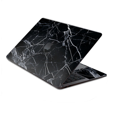$15.98 • Buy Skin Decal Wrap For MacBook Pro 13  Retina Touch  Black Marble Granite White