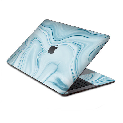 $15.98 • Buy Skin Decal Wrap For MacBook Pro 13  Retina Touch  Baby Blue Ice Swirl Marble