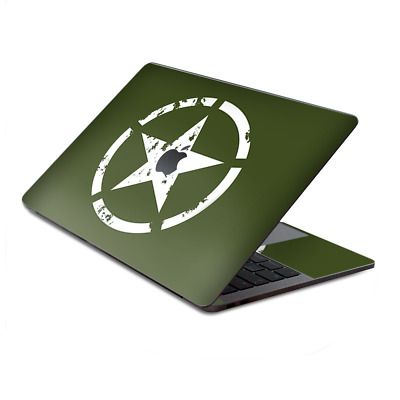 $15.98 • Buy Skin Decal Wrap For MacBook Pro 13  Retina Touch  Green Army Star Military