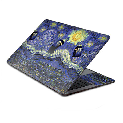 $15.98 • Buy Skin Decal Wrap For MacBook Pro 13  Retina Touch  Tardis Starry Night