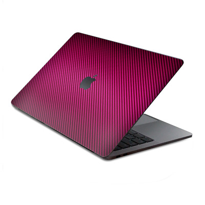 $16.98 • Buy Skins Wrap For MacBook Pro 15 Inch Retina Touch  Pink,black Carbon Fiber Look