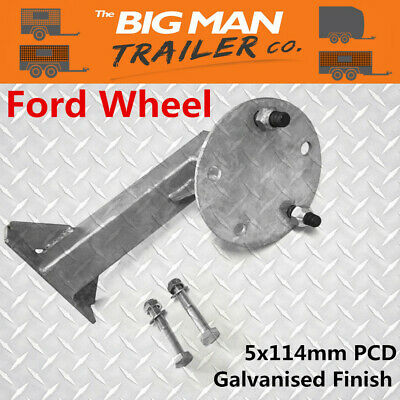 AU37 • Buy Trailer Spare Wheel Holder Carrier Ford 5 Stud Pattern Galvanised Bolts MB