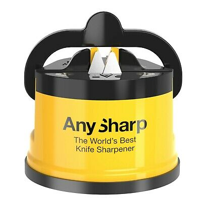 AnySharp World's Best Knife Sharpener With PowerGrip Seven Colours XMAS GIFT • 9.99£