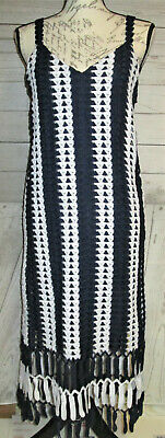 $45 • Buy Zara Women Dress Sz Small Crochet Blue White Nwt   (A)