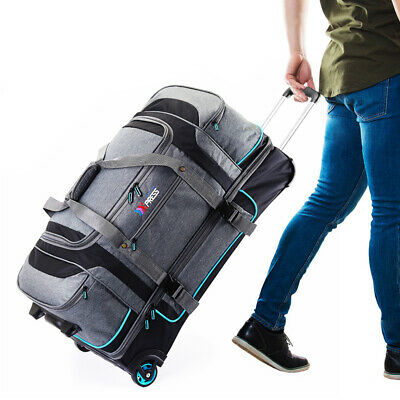 """View Details 30"""" Large Drop Bottom Wheeled Duffel Bag Travel Gear Suitcase Luggage Heavy Duty • 59.99$"""