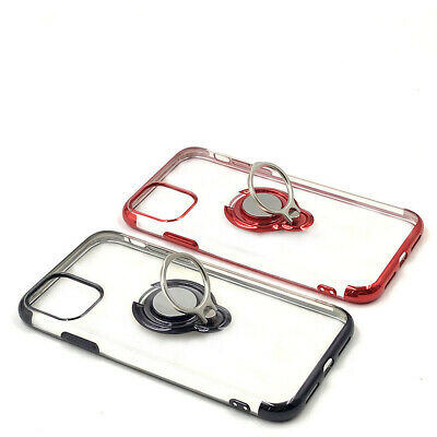 AU13.48 • Buy For IPhone 6 11 Pro Max Phone Case Cover With Magnetic Ring Holder Stand Clear