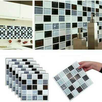 192 Pack Kitchen Bathroom Tile Stickers Mosaic Sticker Self-adhesive Wall Decor • 10.99£