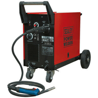 Sealey MIGHTYMIG170 Professional Gas/No-Gas MIG Welder 170Amp With Euro Torch • 405£