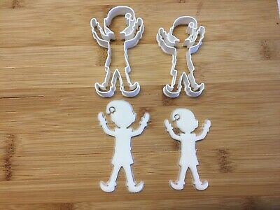 £3.99 • Buy Christmas Elf Cookie Cutters Set Of 2, Biscuit, Pastry, Fondant, Bread Cutter