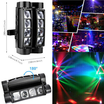 US Spider Moving Head Stage Lighting Beam DMX Disco Party DJ Light 80W RGBW 8LED • 58.50$