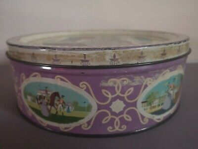 Large Vintage Round Mackintosh Quality Street Sweet Tin • 8£