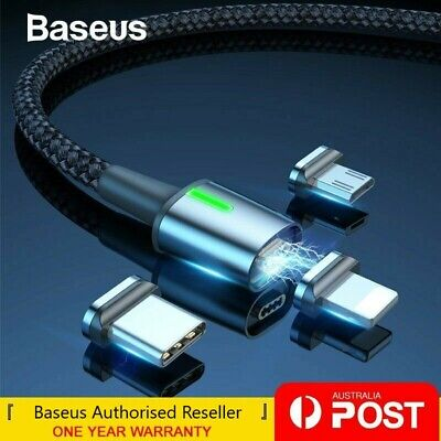 AU12.99 • Buy Baseus Magnetic Type-C Apple Lightning Micro USB Cable Fast Charging Data Cable