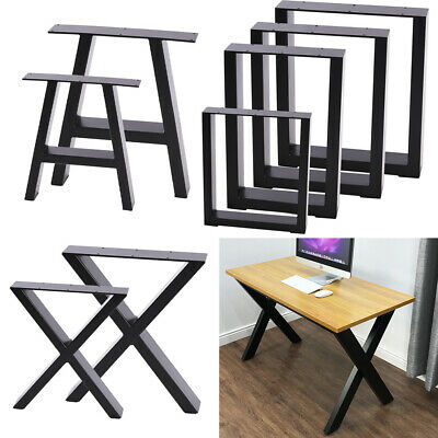 2PCS INDUSTRIAL STEEL TABLE LEGS CABINET CHAIR DESK METAL LEGS SET BlLACK UNITS • 45.95£