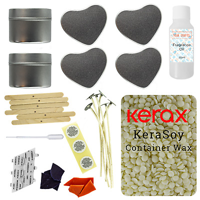 Candle Making Kit - 6 Mixed Tins - Soy Wax Fragrance Dyes Scents - Refill • 19.99£