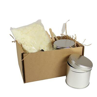 Candle Making Kit 2 Large Tins - Soy Wax Fragrance Dyes Scents & Instructions • 13.99£