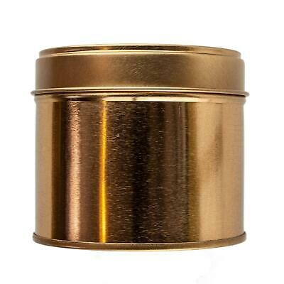 Large Rose Gold Welded Tin 250ml - Candle Making Storage Sweets Wedding Favour • 13.99£