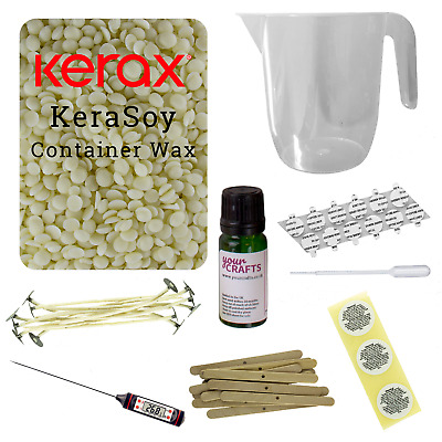 £29.99 • Buy Candle Making Kit - Supply Your Containers - Soy Wax Fragrance Dyes Scents Wicks