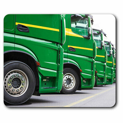 £4.99 • Buy Computer Mouse Mat - Green Trucks Lorry Delivery Driver Office Gift #16463