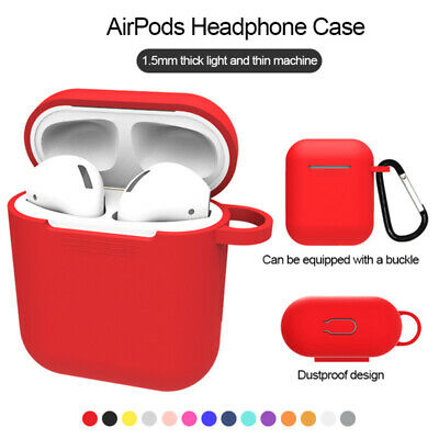 $ CDN1.55 • Buy For AirPods Silicone Case + Keychain Protective Cover Skin Charging Airpods Case