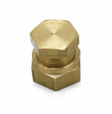 £6.09 • Buy British Made 6mm Stop End Brass Compression Fitting
