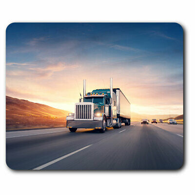 £4.99 • Buy Computer Mouse Mat - Awesome American Truck Lorry Road Office Gift #8550