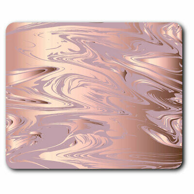 Computer Mouse Mat - Rose Gold Marble Pattern Pretty Office Gift #24125 • 5.99£