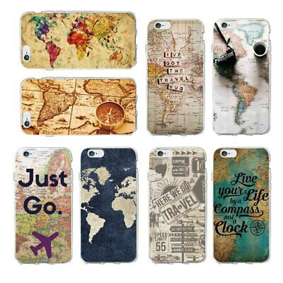 World Map Travel Just Go Summer Quotes Traveler Silicone Case Cover For IPhone • 4.95£
