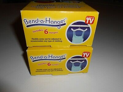 $5.95 • Buy 2 - Bend-a-hanger As Seen On Tv Hanger Sets - 12pc Total - Nib!