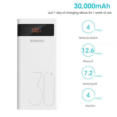 View Details ROMOSS 30000mAh Power Bank QC3.0 Type C PD Dual USB 18W Portable Battery Charger • 27.99£