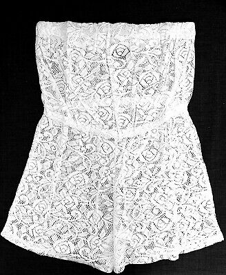 New Womens Bandeau Crochet Lace Playsuit White • 3.99£