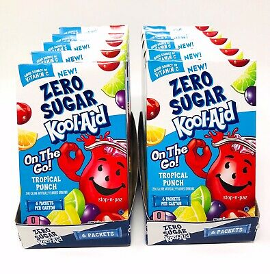 £14.16 • Buy Kool Aid Tropical Punch Zero Sugar Singles To Go 10 Boxes (60 Packets)