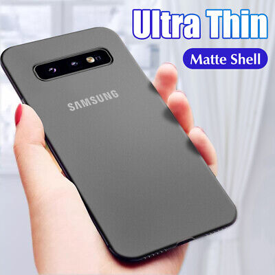 $ CDN3.81 • Buy For Samsung Galaxy S10 S9 S8 Plus Slim 0.3mm Matte Hard Back Skin Case Cover