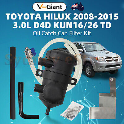 AU205 • Buy V-Gaint Oil Catch Can Kit For Toyota Hilux N70 2008-15 3L KUN16/26 With ABS/ VSC