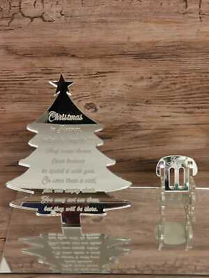 Loved Ones In Heaven Christmas Tree Xmas Memory Table Top Plaque Centrepiece • 16.99£