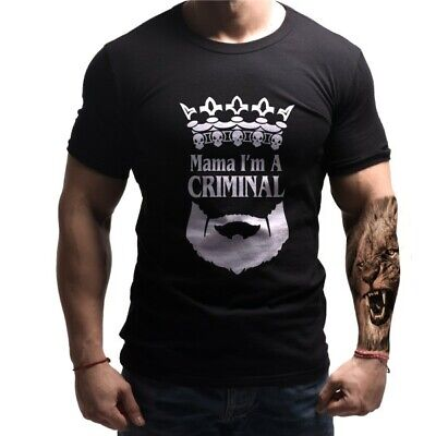 Born Lion Mafia Mama I'm A Criminal T-shirt Casual Clothes  • 25£