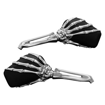 $103.49 • Buy Kuryakyn 1759 Skeleton Hand Mirrors, Chrome Stem With Black Head