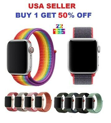 $3.75 • Buy Woven Nylon Band For Apple Watch Sport Loop IWatch Series 4/3/2/1 38/42/40/44mm