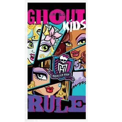 Monster High Ghoul Kids Rule Beach Swim Holiday Towel 100% Cotton • 8.99£