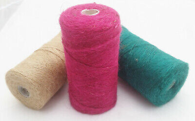 1m-1000m Natural-Red-Green Soft Jute Twine String Rustic Coloured Craft Cord • 1.79£