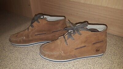 Lacoste Brown Suede Women's Lace Up Shoes Size Uk 4 Eu 37 Usa 6 • 15.99£