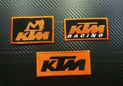 KTM RACING MOTORCYCLE SPORTS BIKER CAP Iron On Sew LOGO Embroidered Badge Patch • 2.50£