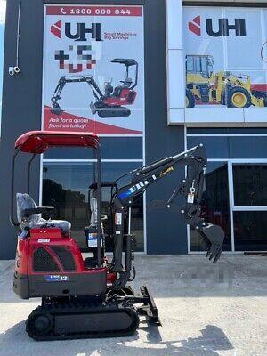 AU15900 • Buy 2020 14hp Yanmar Engine 1.2t Uhi Diesel Mini Excavtor With 9 Attachments