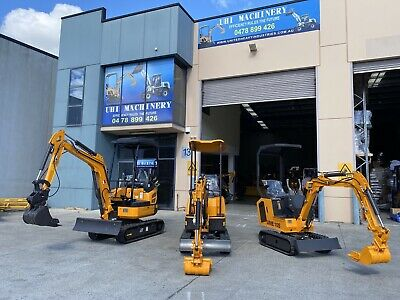 AU11500 • Buy 2020 UHI UME10  10HP Diesel Mini Excavator Rubber Tracked FREE 9 Attachments