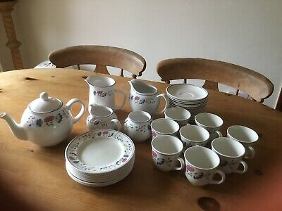 £25 • Buy Bhs Priory Very Large Tea Set With Teapot Jugs Plates Cups Saucers Ex Condition